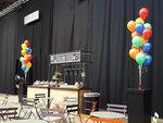 Lovedeco - grote helium ballonnen trossen kleurrijk veel kleur regenboog