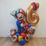 Lovedeco - Ballonboeket Frans 6 jaar Mario thema
