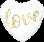 Lovedeco - Liefdes ballon glitter love hart