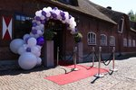 Lovedeco - Organic ballonnenboog wit en paars bruiloft