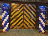 Lovedeco - Standaard ballonpilaar met eigen logo op topballon capgemini blauw met wit