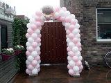 Lovedeco - Small ballonboog roze en wit baby