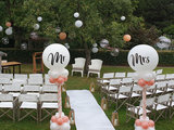 Lovedeco - Witte loper bruiloft boerderij burgersdijk