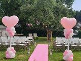 Lovedeco - Roze loper bruiloft boerderij burgersdijk