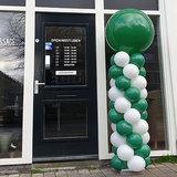 Lovedeco - standaard ballonpilaar groen en wit