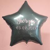 Lovedeco - 45 cm met helium gevulde folie ster ballonnen, Yiorgos geboren