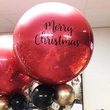 Lovedeco - persoonlijk bedrukte orbz ballon Rood merry christmas
