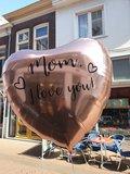 Lovedeco - Persoonlijk bedrukte Mega hartballon Mom I love you