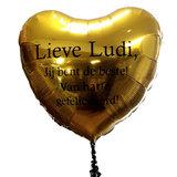 Lovedeco - Grote Hart ballon met eigen tekst