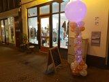 Lovedeco - Elegante ballonpilaar rose goud en wit met licht