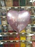 Lovedeco - Persoonlijk bedrukte standaard hartballon, Celine 1 jaar