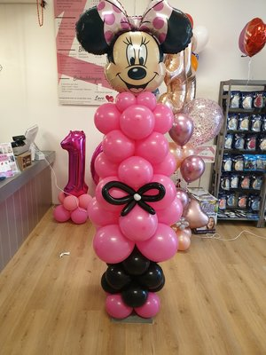 Minnie mouse ballonpilaar
