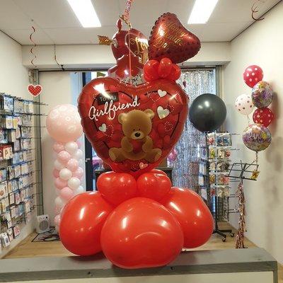 Valentijn ballonboeket Small