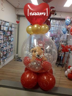 I love you cadeau ballon met naam