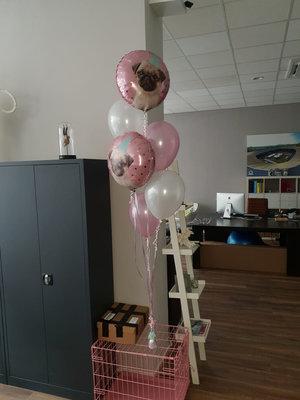 Ballonboeket met 45 cm folie ballonnen naar keuze
