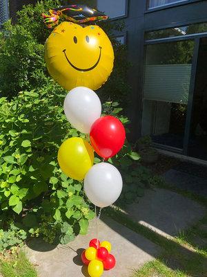 Ballonboeket met grote folie ballon naar keuze