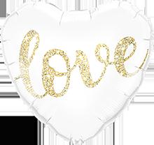 Glitter love heart