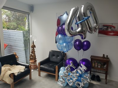 Standaard happy birthday ballonboeket