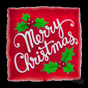 Merry christmas red mistletoe