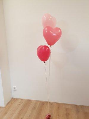 Latex hartjes helium ballon