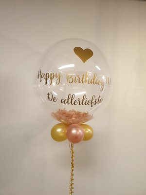 Gepersonaliseerde bubble ballon met veren