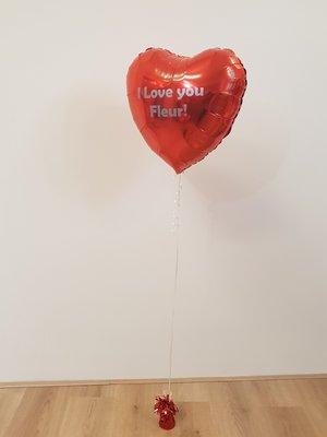 Persoonlijk bedrukte standaard hartballonvalentijn