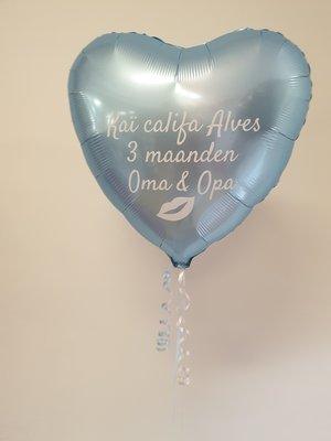 Persoonlijk bedrukte standaard hartballon