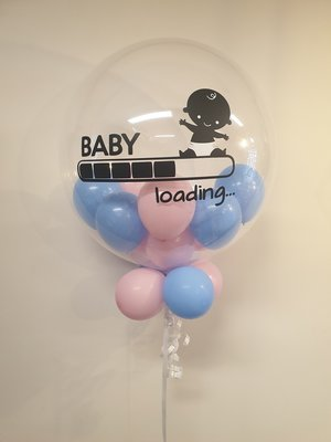 Baby loading bubble ballon