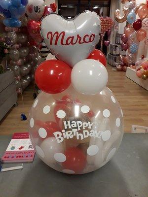 Verjaardag cadeau ballon met naam