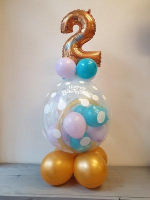 Verjaardag cadeau ballon met cijfer en naam