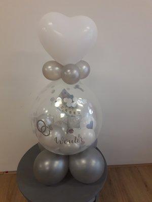 Cadeau ballon bedrukt met eigen tekst