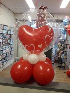 Lovedeco - Valentijn bubble ballonboeket Small