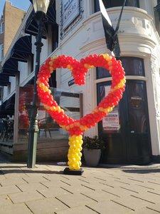 Lovedeco - Standaard ballonnenhart Rood en Goud
