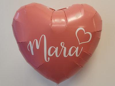 Lovedeco - Persoonlijk bedrukte standaard hartballonMara