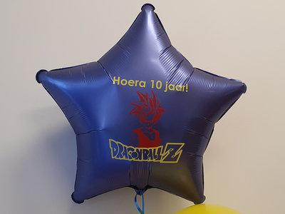 Lovedeco - 45 cm met helium gevulde folie ster ballonnen, hoera 10 jaar dragonball Z