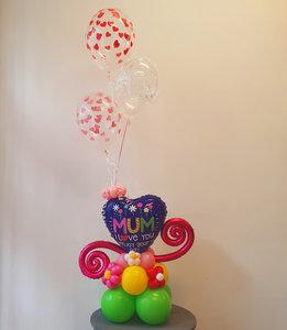 Lovedeco - Ballonboeket moederdag, mum i love you enjoy your day