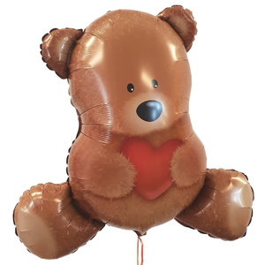Lovedeco - Valentijn helium ballon Teddy beer 80 cm