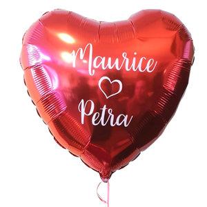 Lovedeco - Valentijn hartballon met eigen tekst