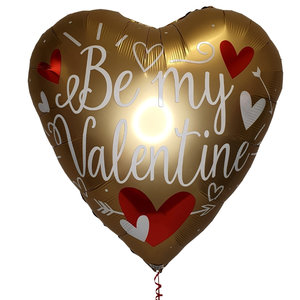 Lovedeco - Valentijn helium ballon Valentines day goud 80 cm