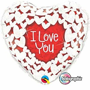 I love you white hearts