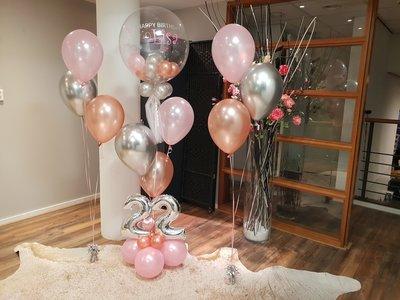 Lovedeco - Luxe Happy birthday bubbelballonboeket roze Lisa