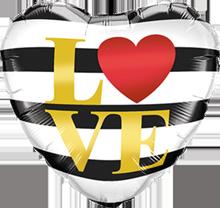 Lovedeco - Striped love heart