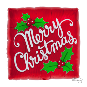 Lovedeco - kerst ballon; Merry christmas red mistletoe