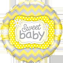 Lovedeco - baby ballon; Sweet baby