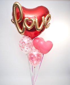 Lovedeco - Special valentijn heliumtros met love script