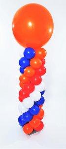 Lovedeco - standaard ballonpilaar koningsdag