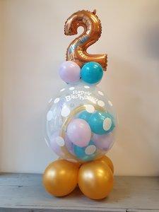 Lovedeco - Happy birthday cadeau ballon met leeftijd ennaam