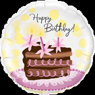 Lovedeco - Happy birthday ballon met verjaardagstaart