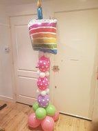 Lovedeco - Helium ballonpilaar verjaardagstaart