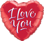 Lovedeco - I love you rode folieballon